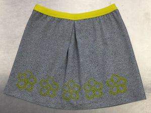 Skirt with printed flowers