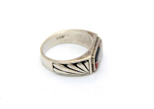 Zuni Wild Horse Inlaid Ring
