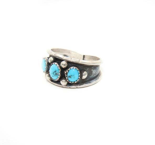 Three Stones Turquoise Ring