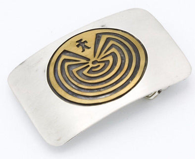 Man In The Maze Belt Buckle