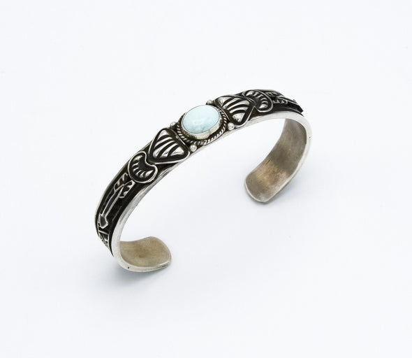 Dry Creek Turquoise Repousse Arrow Cuff