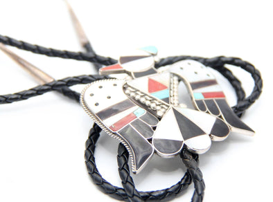 Zuni Bird Bolo tie - turkoi, Native American Jewelry, arts and crafts