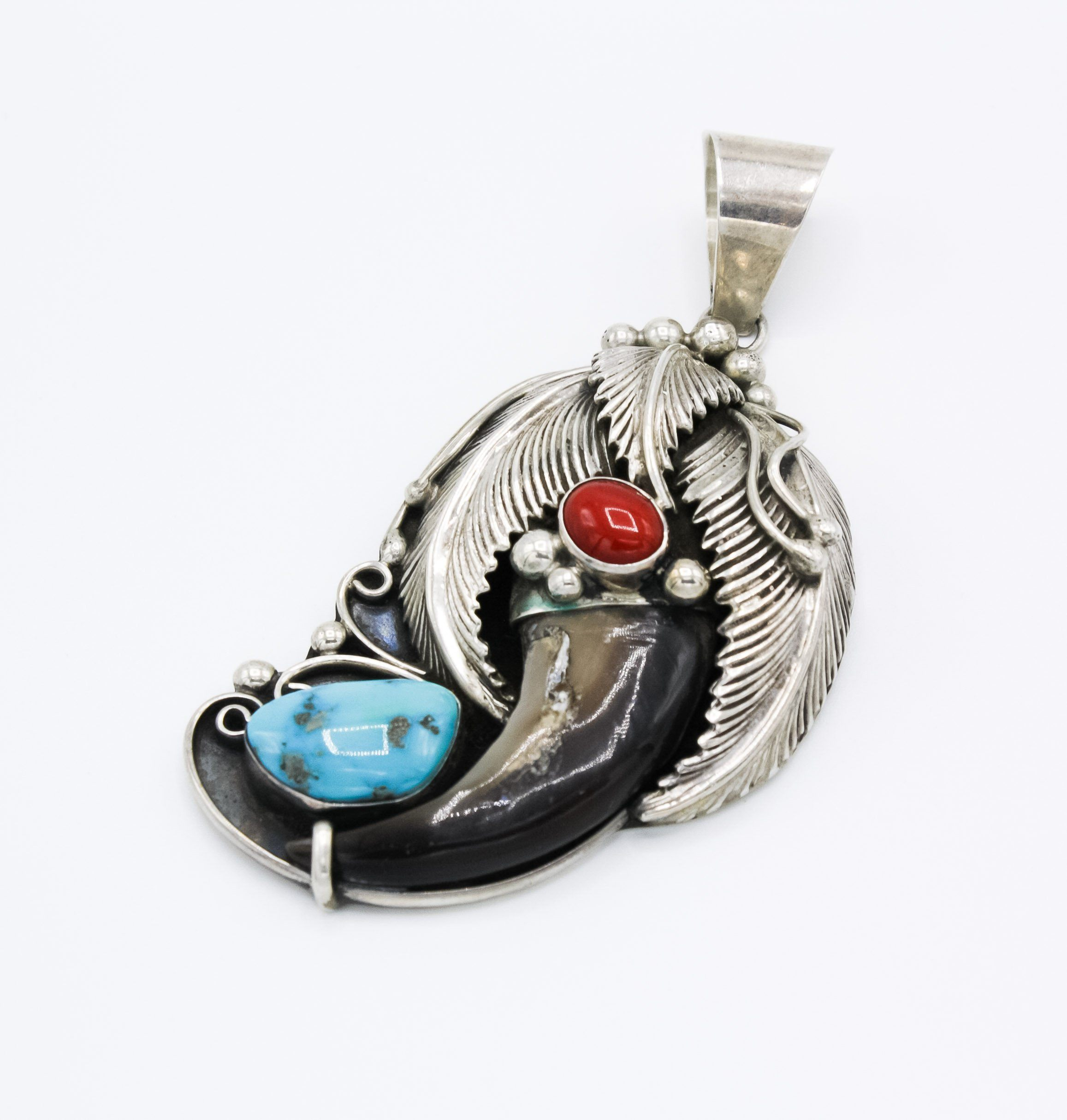 Bear claw pendant turkoi mozeypictures Image collections