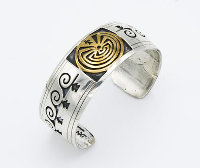 Navajo Man In Maze Cuff by Jackson