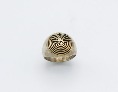 Navajo Man in Maze Ring 2