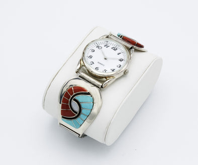 Amy Quandelacy Coral and Turquoise Watch