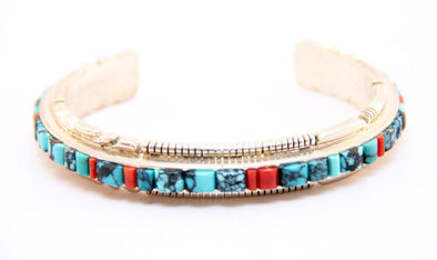 Zuni Peace Bracelet - turkoi, Native American Jewelry, arts and crafts