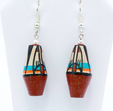 Native American Pottery Earrings Iii