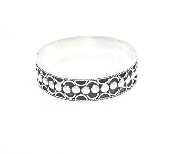 Thick Silver Berber Bangle