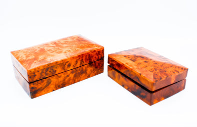 Wooden Flip Top Jewelry Box