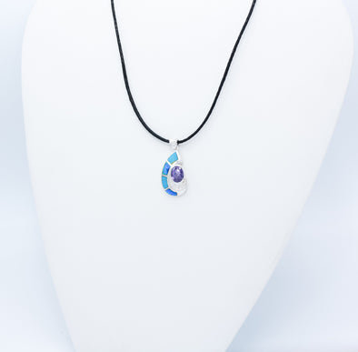 Amethyst And Opal Pendant