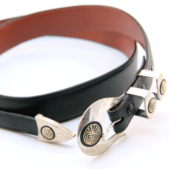 Man in the Maze Belt - turkoi, Native American Jewelry, arts and crafts