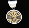 Man in the Maze Pendant - turkoi, Native American Jewelry, arts and crafts