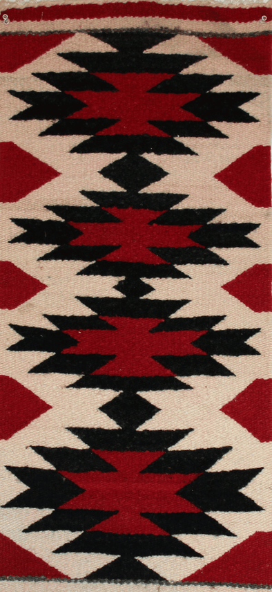 "Fourth Night | Navajo Rug 15""x32"" - turkoi, Native American Jewelry, arts and crafts"