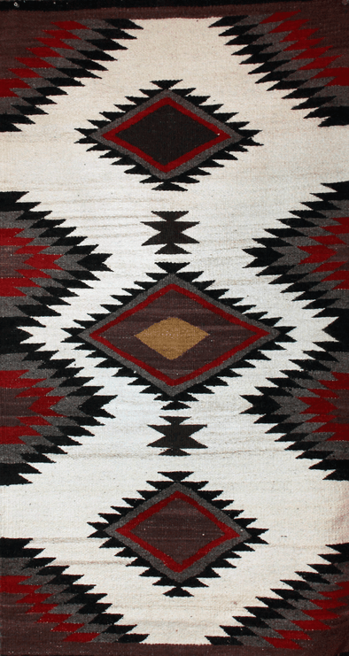 "Chieftain Comfort | Navajo Rug 29""x56"" - turkoi, Native American Jewelry, arts and crafts"