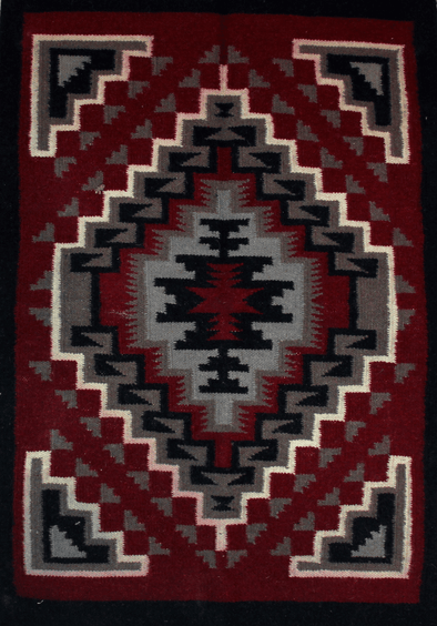 "Four Walls | Navajo Rug 24""x36"" - turkoi, Native American Jewelry, arts and crafts"
