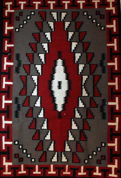 "The Witch Doctor | Navajo Rug 48""x78"" - turkoi, Native American Jewelry, arts and crafts"
