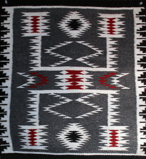 "Taming Horses | Navajo Rug | 20""x21"" - turkoi, Native American Jewelry, arts and crafts"