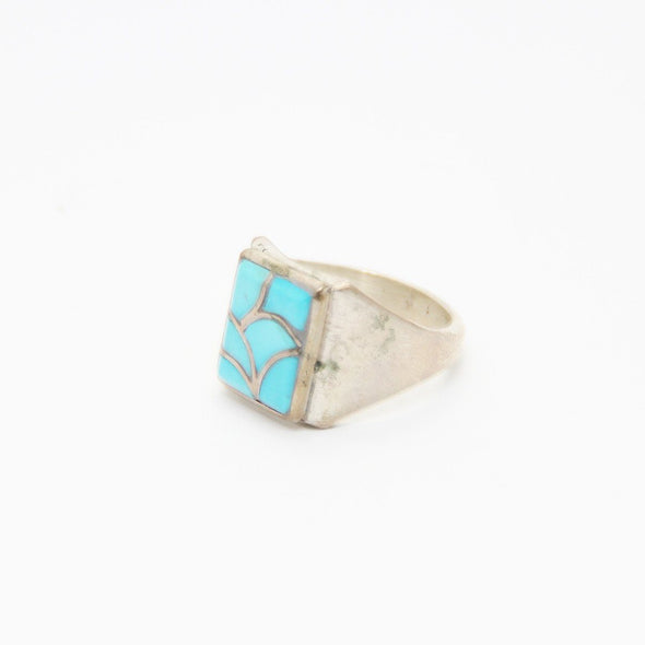 Turquoise Zuni Birdman Ring - turkoi, Native American Jewelry, arts and crafts