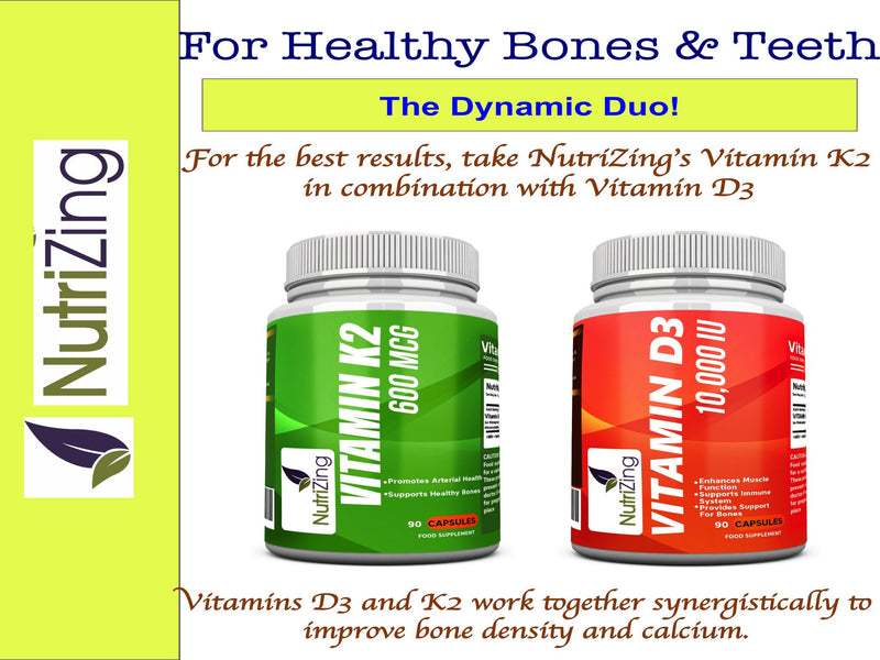 Vitamin D3 and K2 combo pack