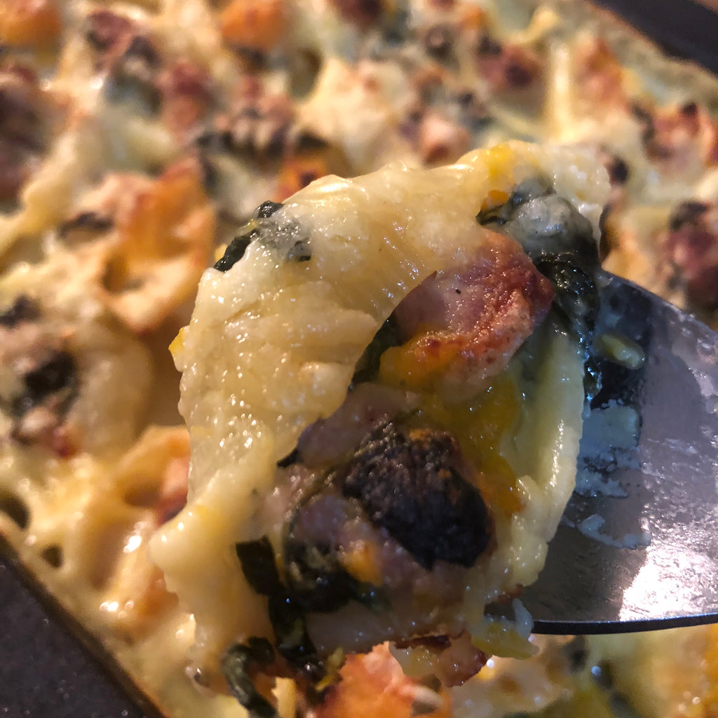 Baked Conchiglioni with Pumpkin, Sausage & Sage
