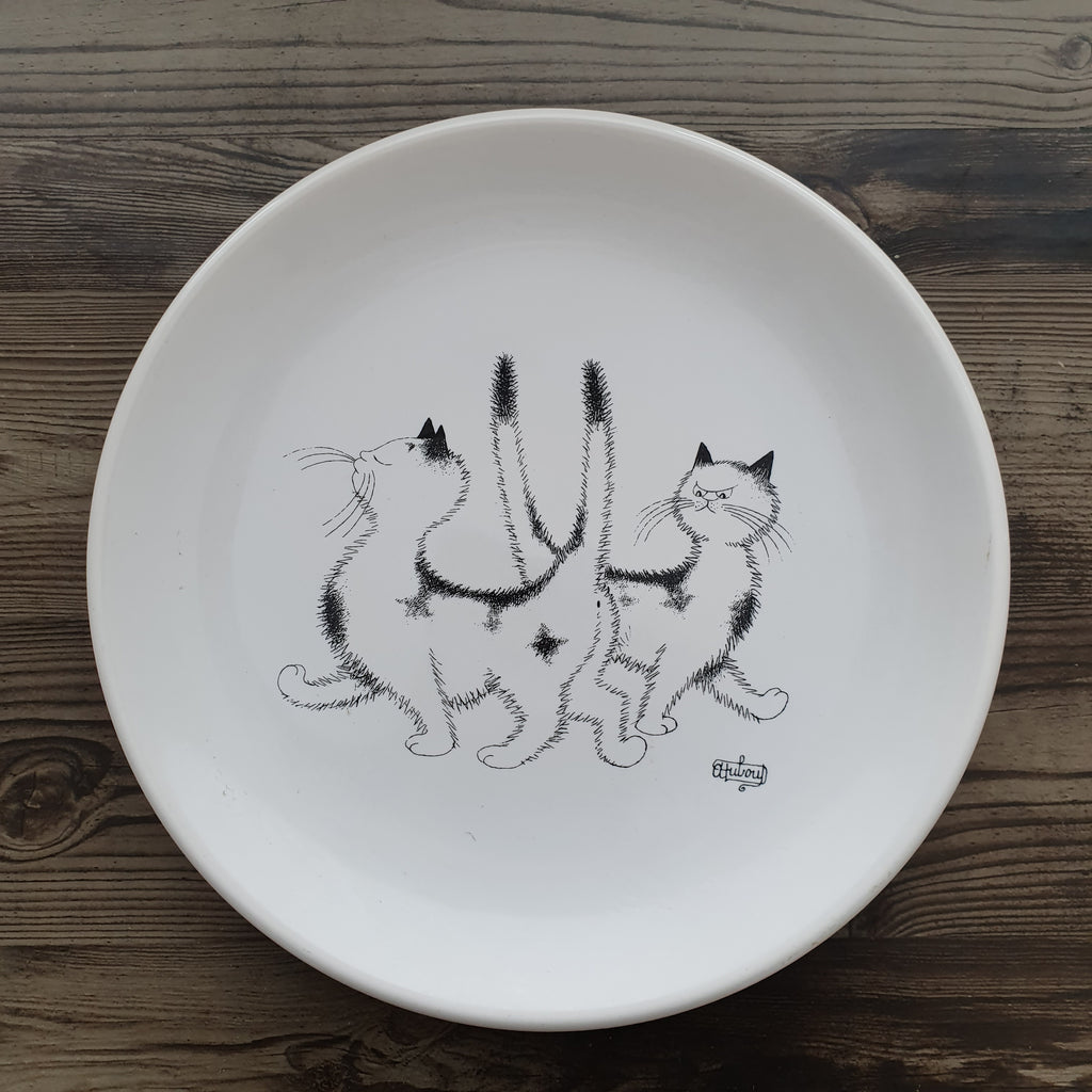 Cats of Dubout small plate