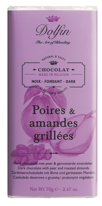 Chocolate 70g Dark Pear Almond Dolfin