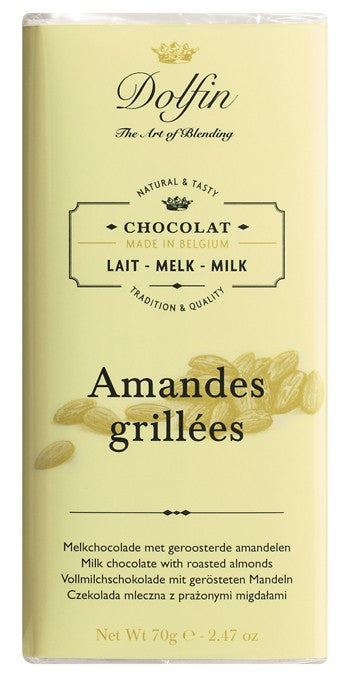 Chocolate 70g Milk Roasted Almond Dolfin