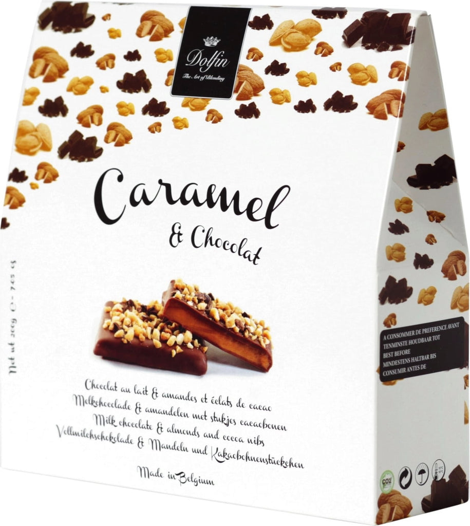Chocolate Caramels with Almonds & Cocoa Nibs