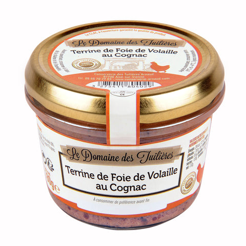 Poultry Liver Terrine with Cognac 180g Domaine des Tuillieres