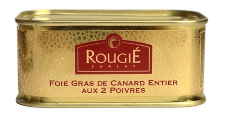 Foie Gras Canard (Duck) Entier with Champagne & 2 peppers 200g