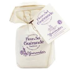 Flower of Guerande salt 125g Linen Bag