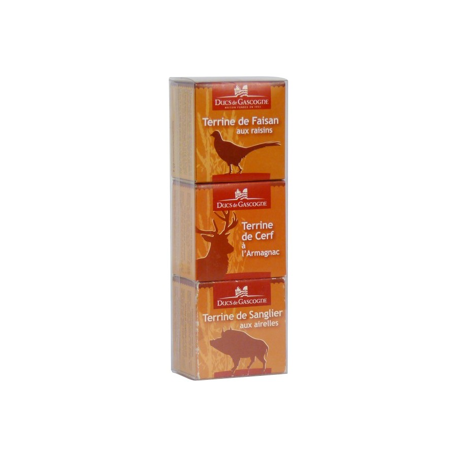 Set of 3 x 65g Game Terrines