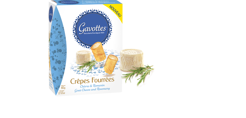 Gavottes Crispy Crepes with Goats Cheese and Rosemary 60g