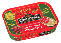 Sardines whole with Espelette 115g Connetable