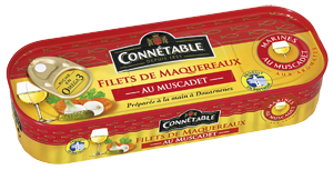 Mackerel Fillets in Muscadet wine and Spices 176g Connetable