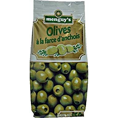 Menguys Olives With Anchovies 150G