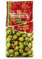 Hot chili Olives 250g Menguy's