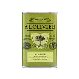 A L'olivier Olive oil infused with Garlic and Thyme 250ml