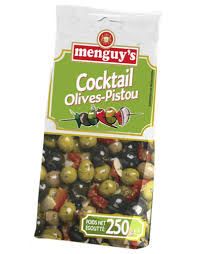 Olive Cocktail Assorted with Pistou 250g Menguy's