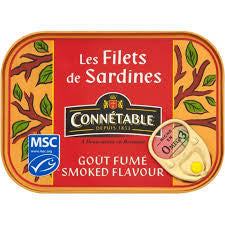 Sardine Fillets Smoke Sunflower Oil 100g Connetable