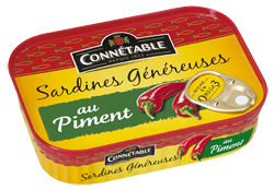 Sardines whole with chili 140g Connetable