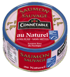 Wild Salmon Natural 160g Connetable