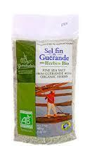 Organic ground sea salt with Provence Herbs 400g Le Guerandais