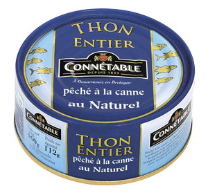 Tuna caught by line in brine  160g Connetable