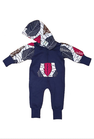 Autum Leaves Navy Jumpsuit (Unisex)