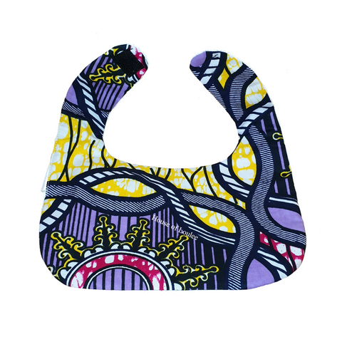 Purple Spring Cotton Bib