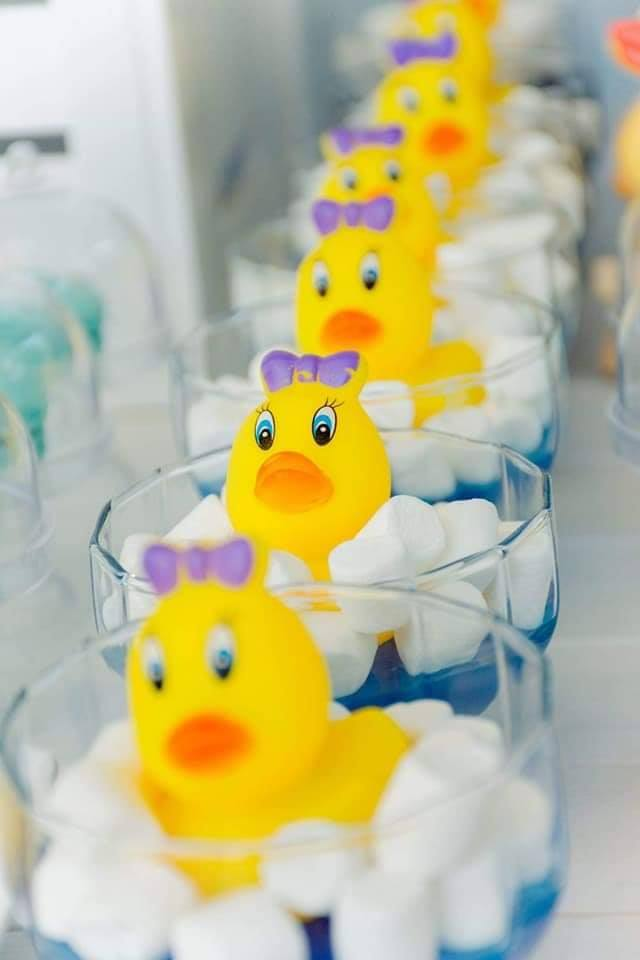 Rubber Duck Birthday Party Snack Ideas, Little Printables Shop