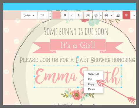 Little Printables Shop, Cut copy and Paste in Templett