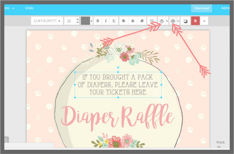 Send photos behind or in front of other objects Templett, Little Printables Shop